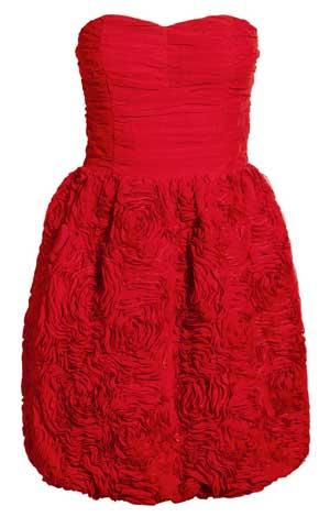 H m red dress logo
