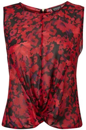 Topshop-flower-twist-front-blouse